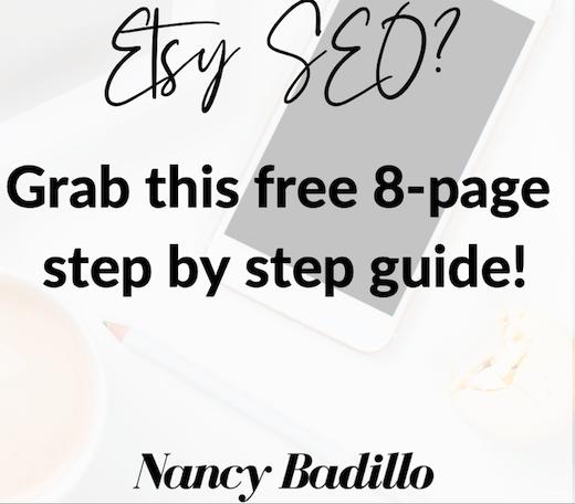 Free Etsy SEO Guide-Nancy Badillo